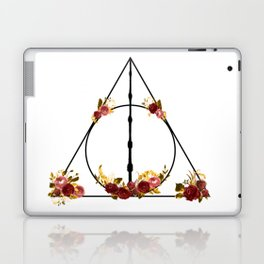 Deathly Hallows in Red and Gold Laptop & iPad Skin