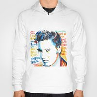 elvis Hoodies featuring Elvis by Phil Fung
