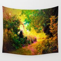 heaven Wall Tapestries featuring HEAVEN by 2sweet4words Designs