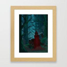 Little Red Gas Mask Framed Art Print
