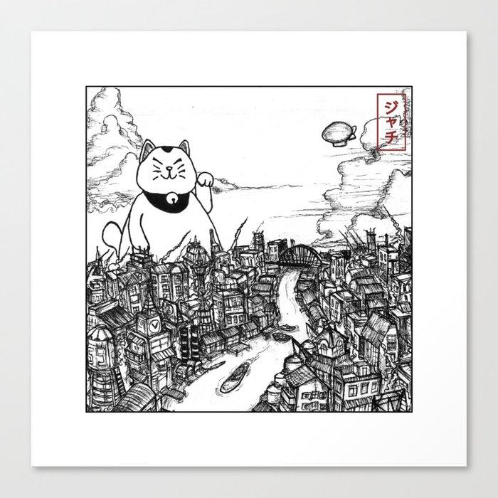 Neko : The Beckoning Disaster Canvas Print