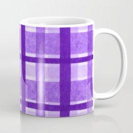 Tissue Paper Plaid - Purple Coffee Mug