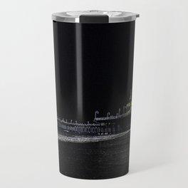 Black Neon Santa Monica Pier Travel Mug