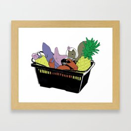 Bikini Bottom Shopping Framed Art Print