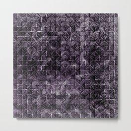 Ink Stitch: Amethyst (dark) Metal Print