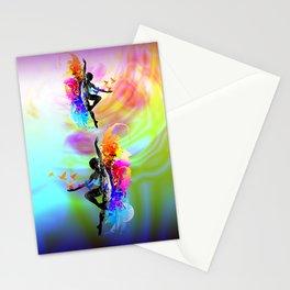 Ballet dancer dancing with flying birds Stationery Cards