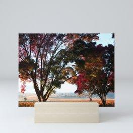 Australian Autumn Landscape Mini Art Print