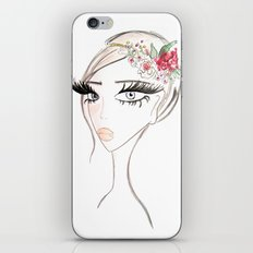 Flowers in  the hair iPhone Skin