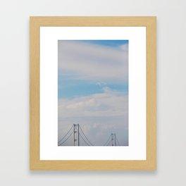 A bridge in the sky Framed Art Print