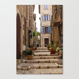 Blue Window in the streets of Saint Paul de Vence France Canvas Print