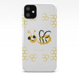 Happy bee iPhone Case