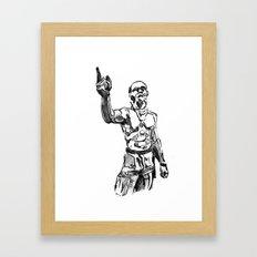 Techno Viking Love  Framed Art Print