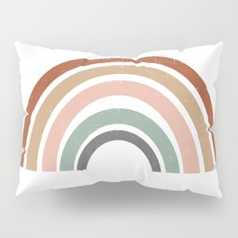 Rainbow earth tone cute kids room decor muted rainbow art print for nursery Pillow Sham