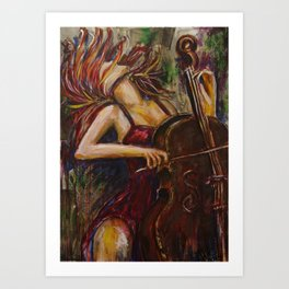Cello Girl Art Print