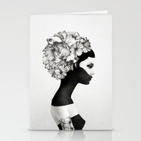 american beauty Stationery Cards featuring Marianna by Ruben Ireland