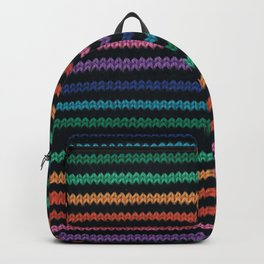 Knitted rainbow Backpack