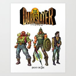 The Darkslayer - The Good Guys (Venir, Mood, Melegal) Art Print
