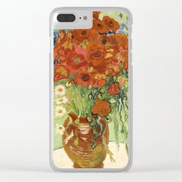 """Vincent van Gogh """"Still Life, Vase with Daisies, and Poppies"""" Clear iPhone Case"""