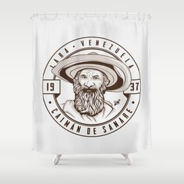 Caimán de Sanare - Trinchera Creativa Shower Curtain