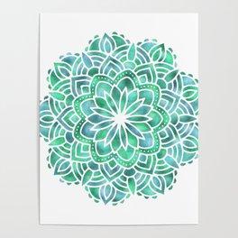 Mandala Southwest Succulent Poster