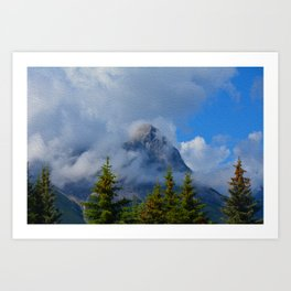 Ha Ling Mountain Peak, Canmore, Canada Art Print