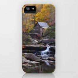 Glade Creek Grist Mill in Autumn II iPhone Case