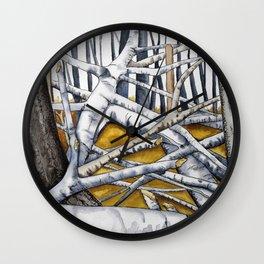 Silver Birch Woods. Wall Clock