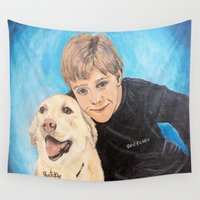 best friends Wall Tapestries featuring Best Friends by gretzky