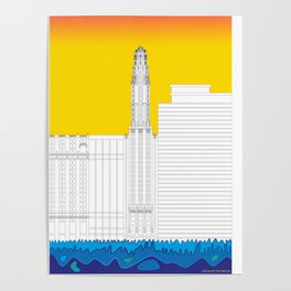Chicago by the river #8 Poster