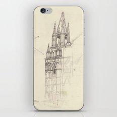 Santa Ana El Salvador Ink Drawing iPhone & iPod Skin