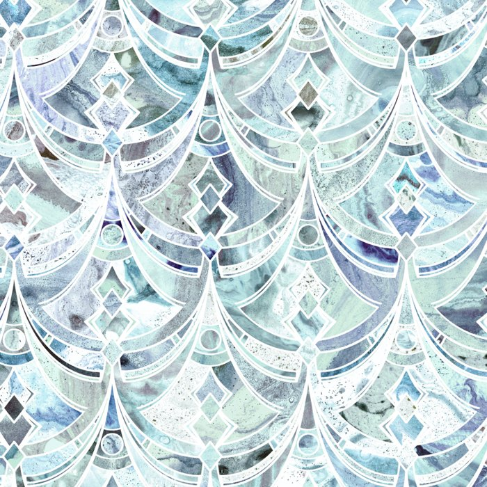 Ice and Diamonds Art Deco Pattern Leggings