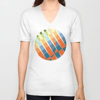deco V-neck T-shirts featuring Art Deco by Robert Cooper