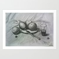 fruits Art Prints featuring Fruits by Sugarless Daydreams