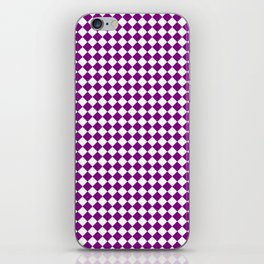 Small Diamonds - White and Purple Violet iPhone Skin