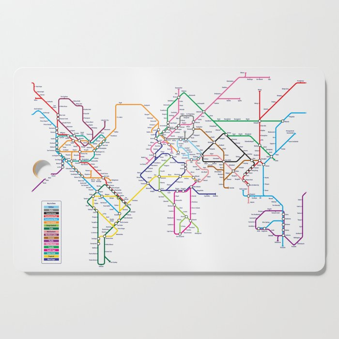 World Metro Subway Map.World Metro Subway Map Cutting Board By Artpause