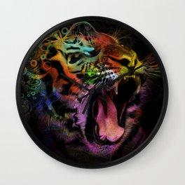 Tiger at the Gate Wall Clock