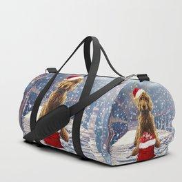 Christmas Golden Doodle Duffle Bag