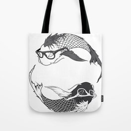 Hipster Koi Tote Bag