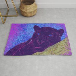 Purple panther on a branch - Purple Rug