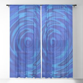 Water Moon Cobalt Swirl Sheer Curtain