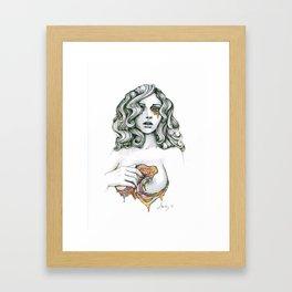 Love Chasm (VACANCY zine) Framed Art Print
