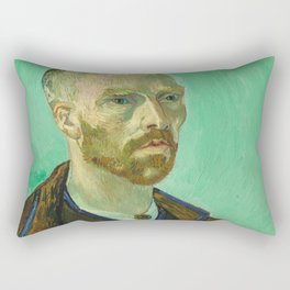 Self Portrait dedicated to Paul Gauguin by Vincent Van Gogh Rectangular Pillow