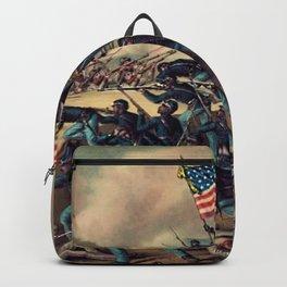 African American Civil War Troops Storming Fort Wagner Landscape Backpack