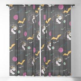 Vampire Zine Queen Sheer Curtain