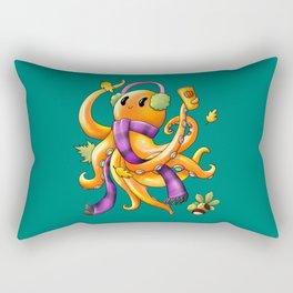 Autumn Octopus Rectangular Pillow