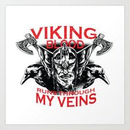 Viking blood Art Print