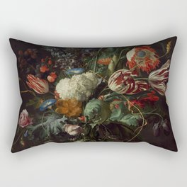 "Jan Davidsz. de Heem ""Vase of Flowers"" Rectangular Pillow"