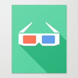 3D Glasses. Canvas Print