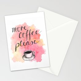 More Coffee Please Stationery Cards