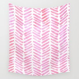 Handpainted Chevron pattern - pink and pink ;) Wall Tapestry